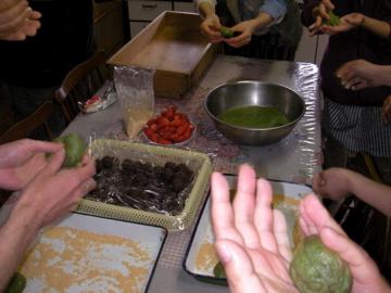 よもぎ餅作り1