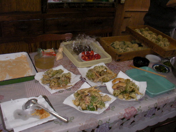餅と天ぷら