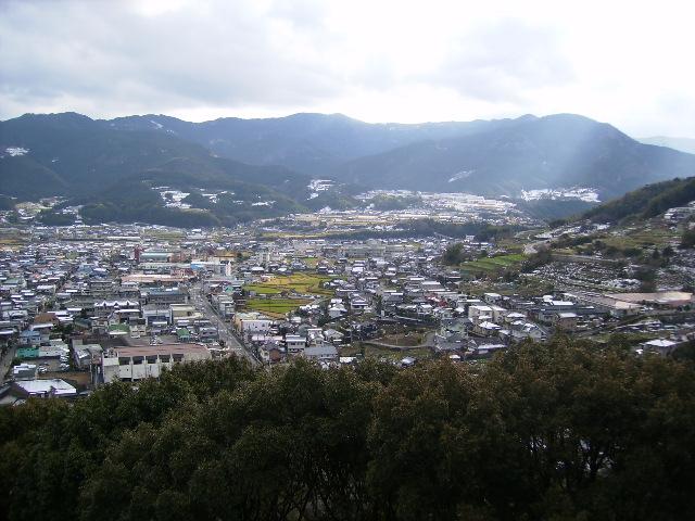 野村市街を望む206