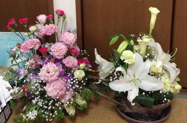 お花をありがとうございます❤
