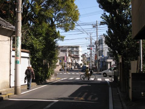 旧水戸街道・小菅三丁目交差点