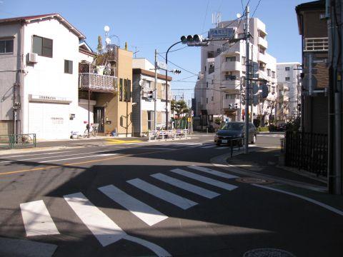 旧水戸街道・西亀有3丁目交差点
