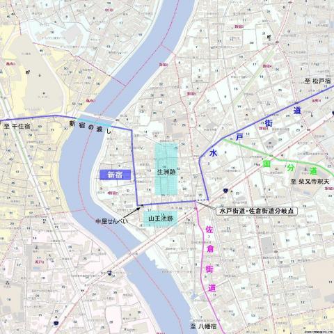 旧水戸街道・新宿