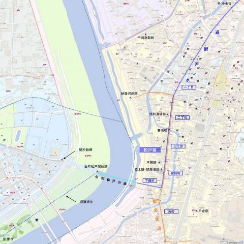 旧水戸街道・松戸宿
