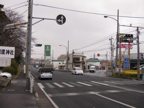 蘇羽鷹神社前の旧道入口