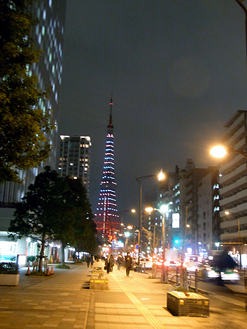 tokyo tower on the Xmas Eve 1