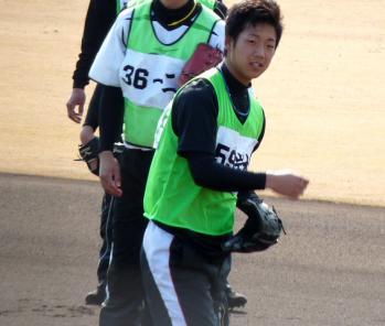 絵日記1・31鳴尾浜新人4