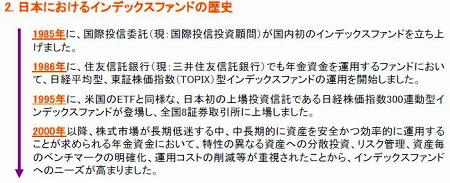 日本におけるインデックスファンドの歴史