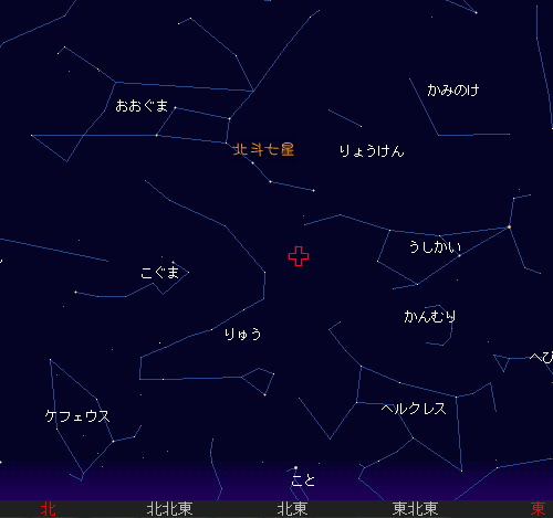 2010 1 4 しぶんぎ座流星群星図