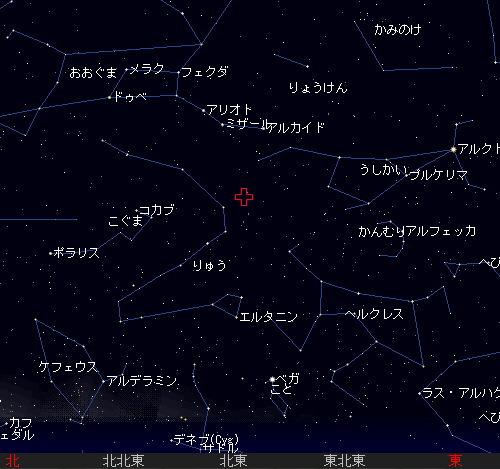 2011 1 4 しぶんぎ座流星群星図