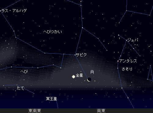 2011 1 30 夜が明ける前に星図