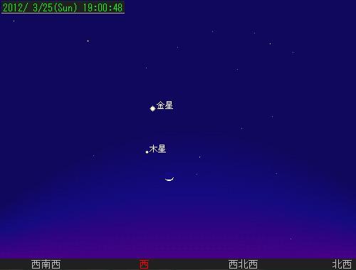 201203 26 夕空のランデブー星図25