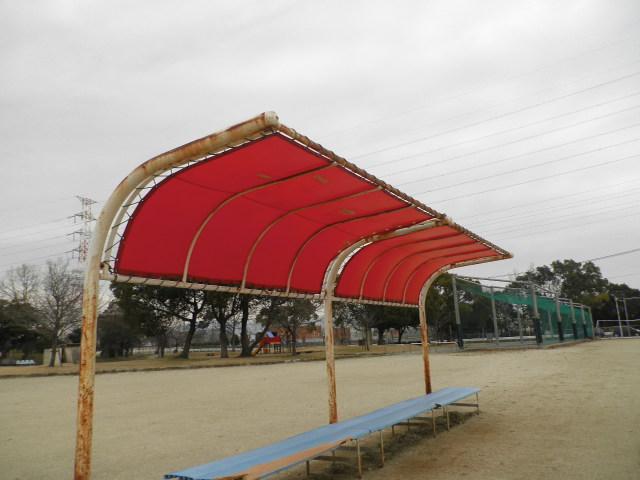 野球場テント 001