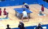 【卓球】 塩野真人選手と阿部淳一選手のプレー動画
