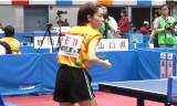 【卓球】 石川佳純VS根本理世3G 東京国体2013