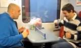 電車の中でもできる卓球!?面白そう