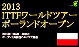 【大会】 ポーランドオープン2013 (11月6日~10日)