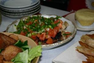 2009サラダとトリのマリネ焼き