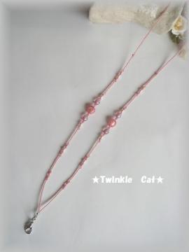桜ピンクネックストラップ