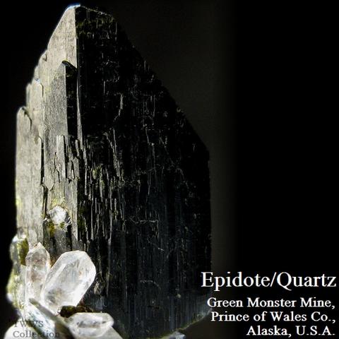 緑簾石&水晶_アラスカ1