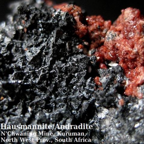 ハウスマン鉱&灰鉄柘榴石_南アフリカ1