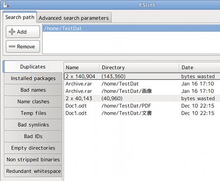 FSlint Ubuntu ディスク管理ツール