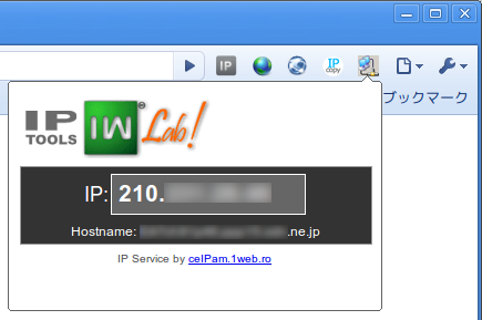 Chrome MyIP Chrome拡張機能 自分のIPアドレス確認