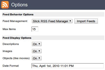 Slick RSS Chrome拡張機能 RSSリーダー OPML インポート