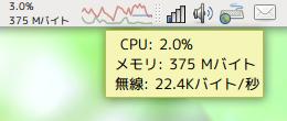 ハードウェアモニタ Ubuntu パネルアプレット