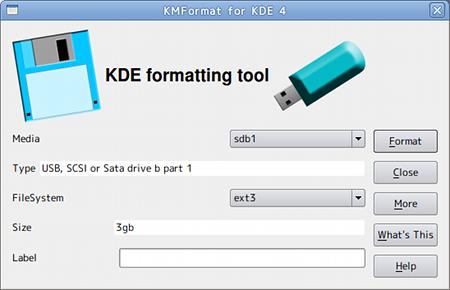 KMFormat Ubuntu USBメモリ フォーマット