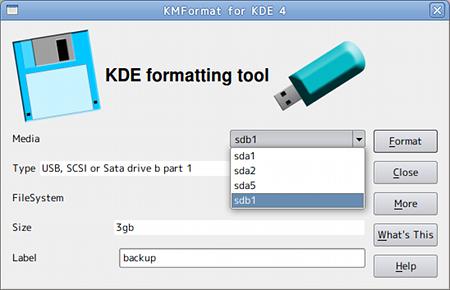 MFormat USBメモリ フォーマットの設定