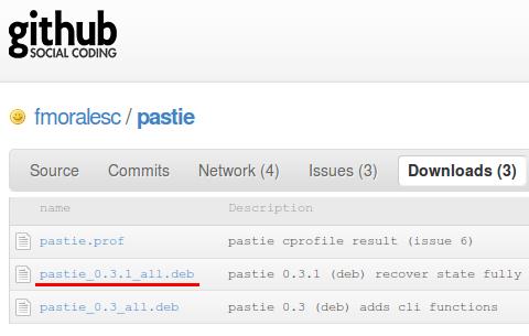 pastie クリップボードマネージャ インストール debパッケージ