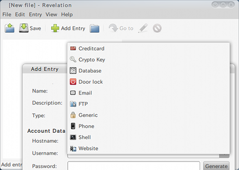 Revelation Password Manager Ubuntu パスワード管理 パスワードの種類