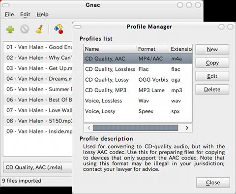 Gnac Ubuntu 音楽変換 PPA