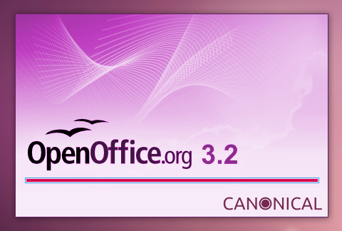 OpenOffice splash for Ubuntu 10.04 オープンオフィス スプラッシュスクリーン