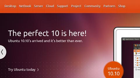 Ubuntu 10.10 インストール
