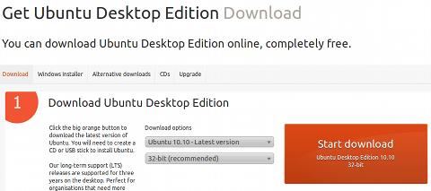 Ubuntu 10.10 ISOイメージ ダウンロード