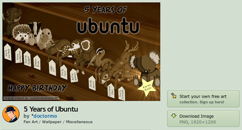 deviantART Ubuntu 壁紙 5 Years of Ubuntu