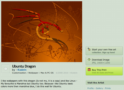 deviantART Ubuntu 壁紙 Ubuntu Dragon