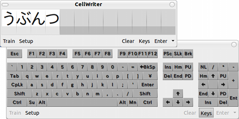 CellWriter Ubuntu 手書き入力 ソフトウェアキーボード