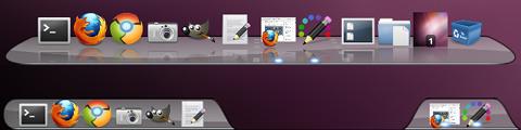 Leopard Dock image Cairo-Dock Ubuntu デスクトップテーマ
