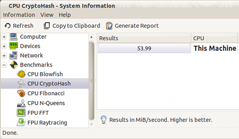 HardInfo Ubuntu ベンチマーク 測定