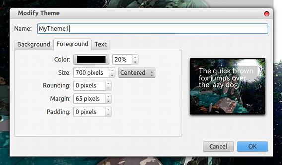 FocusWriter Ubuntu テキストエディタ テーマの作成 テキストエリア