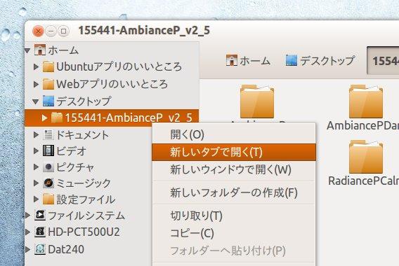 RadianceP Ubuntu テーマ
