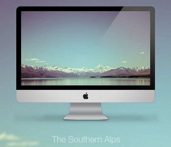 The Southern Alps Ubuntu 壁紙