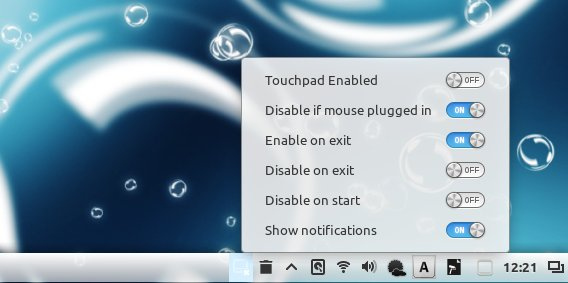 Touchpad Indicator Classic Cinnamon アプレット