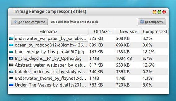 Trimage image compressor Ubuntu 画像圧縮