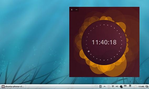 Ubuntu Phone Clock 時計ウィジェット 黄色