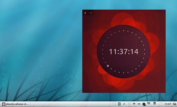 Ubuntu Phone Clock 時計ウィジェット