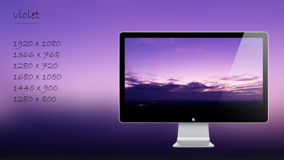 violet Ubuntu 壁紙